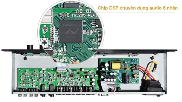 Chip DSP 6x của Vang số Partyhouse A6